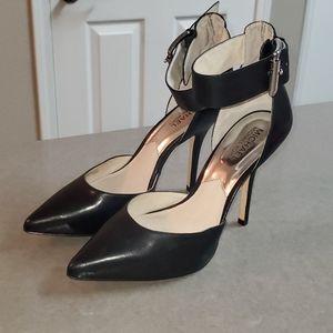 Michael Kors Zady Ankle Strap Leather Pumps Size 8